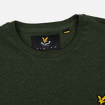Мужская футболка Lyle & Scott Plain Crew Neck Dark Sage Marl фото- 2