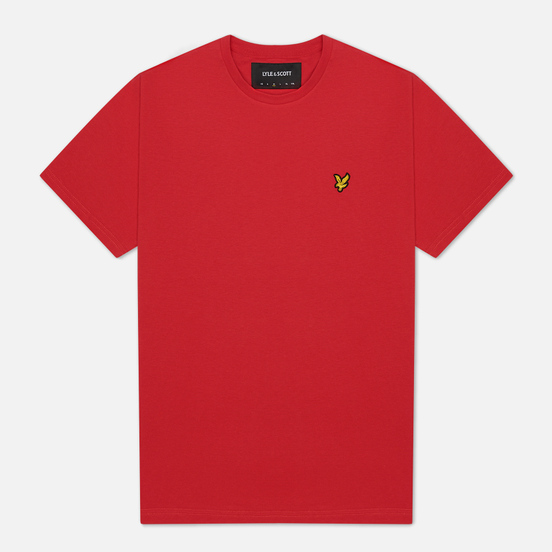 Мужская футболка Lyle & Scott Plain Crew Neck Gala Red