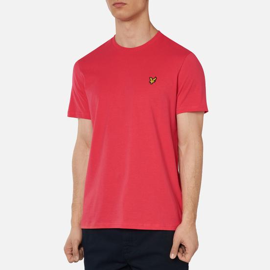 Мужская футболка Lyle & Scott Plain Crew Neck Geranium Pink