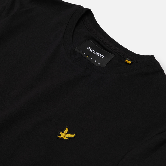 Мужская футболка Lyle & Scott Plain Crew Neck Jet Black