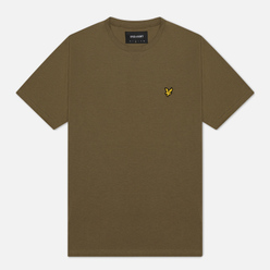 Мужская футболка Lyle & Scott Plain Crew Neck Lichen Green