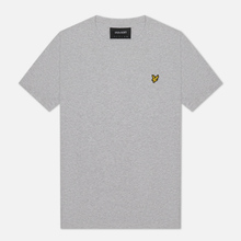 Мужская футболка Lyle & Scott Plain Crew Neck Light Grey Marl фото- 0