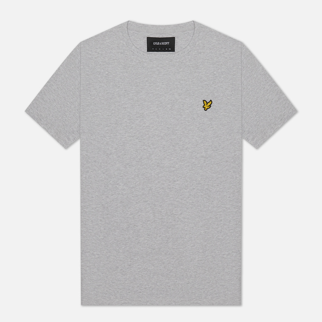 Мужская футболка Lyle & Scott Plain Crew Neck Light Grey Marl