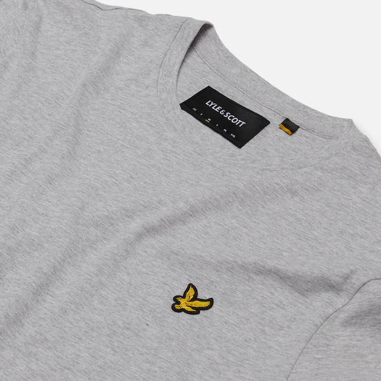 Мужская футболка Lyle & Scott Plain Crew Neck Light Grey Marl