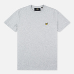 Мужская футболка Lyle & Scott Plain Crew Neck Light Grey Marl фото- 0