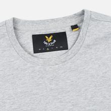 Мужская футболка Lyle & Scott Plain Crew Neck Light Grey Marl фото- 1
