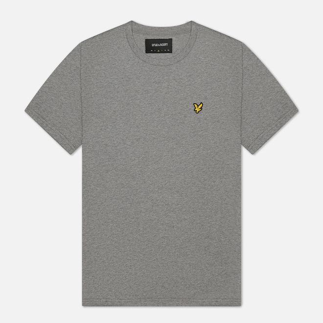 Мужская футболка Lyle & Scott Plain Crew Neck Mid Grey Marl