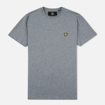 Мужская футболка Lyle & Scott Plain Crew Neck Mid Grey Marl фото- 0