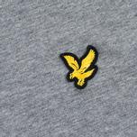 Мужская футболка Lyle & Scott Plain Crew Neck Mid Grey Marl фото- 2
