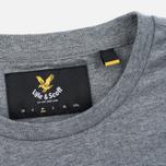 Мужская футболка Lyle & Scott Plain Crew Neck Mid Grey Marl фото- 3
