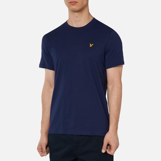 Мужская футболка Lyle & Scott Plain Crew Neck Navy