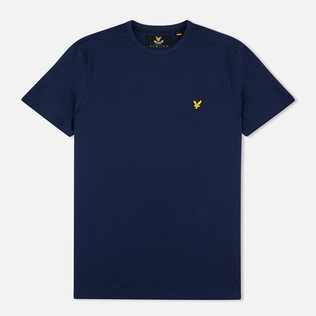 Lyle & Scott Plain Crew Neck Men's T-shirt Navy