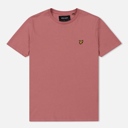Мужская футболка Lyle & Scott Plain Crew Neck Pink Shadow
