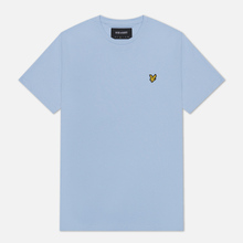 Мужская футболка Lyle & Scott Plain Crew Neck Pool Blue фото- 0