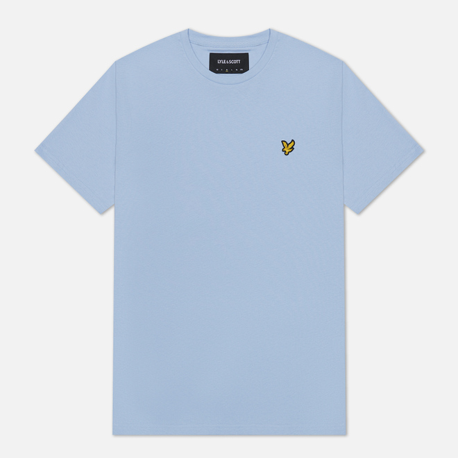 Мужская футболка Lyle & Scott Plain Crew Neck Pool Blue