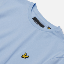 Мужская футболка Lyle & Scott Plain Crew Neck Pool Blue фото- 1