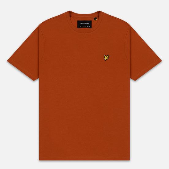 Мужская футболка Lyle & Scott Plain Crew Neck Tobacco