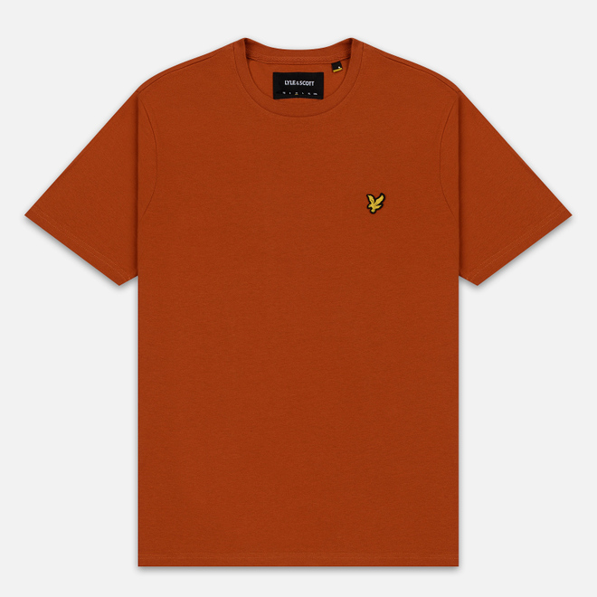 Мужская футболка Lyle & Scott Plain Crew Neck Tobacco