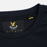 Мужская футболка Lyle & Scott Plain Crew Neck True Black фото- 3
