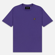 Мужская футболка Lyle & Scott Plain Crew Neck Violet фото- 0