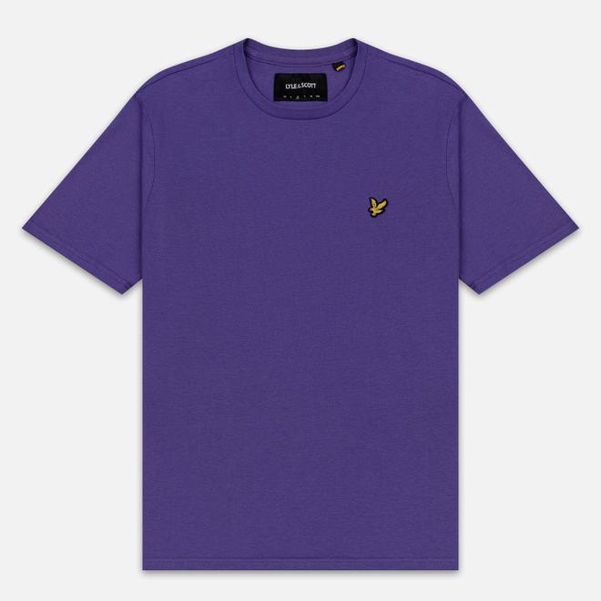 Мужская футболка Lyle & Scott Plain Crew Neck Violet