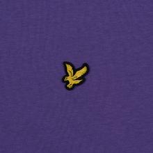 Мужская футболка Lyle & Scott Plain Crew Neck Violet фото- 2