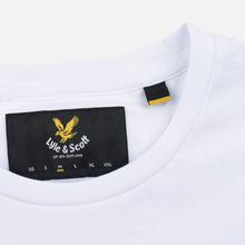 Мужская футболка Lyle & Scott Plain Crew Neck White фото- 3