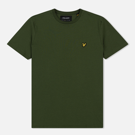Мужская футболка Lyle & Scott Plain Crew Neck Woodland Green