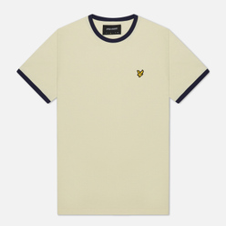 Мужская футболка Lyle & Scott Ringer Buttercream/Navy