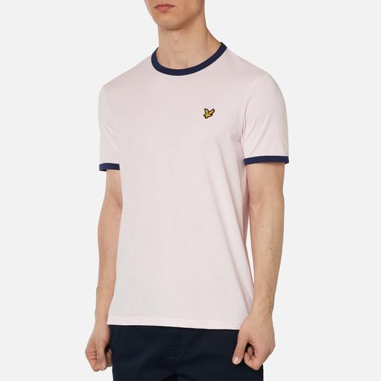 Мужская футболка Lyle & Scott Ringer Strawberry Cream/Navy