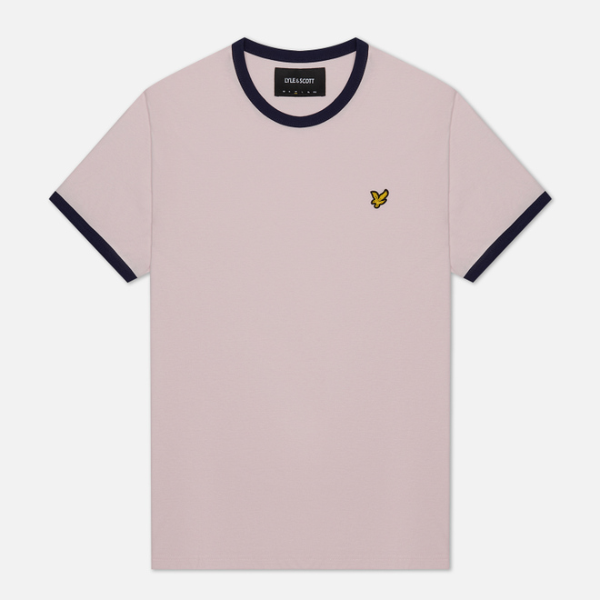 Мужская футболка Lyle & Scott Ringer Strawberry Cream/Navy