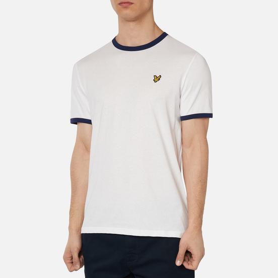 Мужская футболка Lyle & Scott Ringer White/Navy