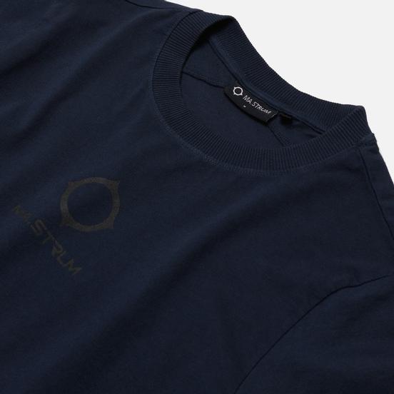 Мужская футболка MA.Strum Garment Dyed Logo True Navy