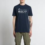 Мужская футболка MA.Strum Giatsint SS M.S.C. 17 Front Logo Dark Navy фото- 3