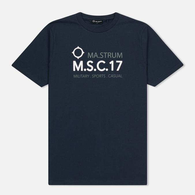 Мужская футболка MA.Strum Giatsint SS M.S.C. 17 Front Logo Dark Navy