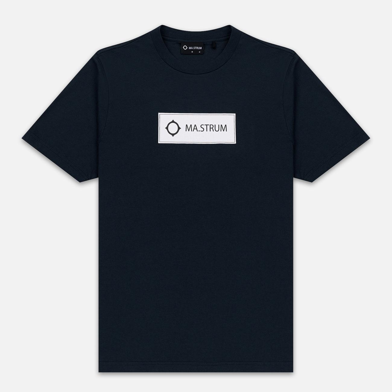 Мужская футболка MA.Strum Icon Box Logo Dark Navy
