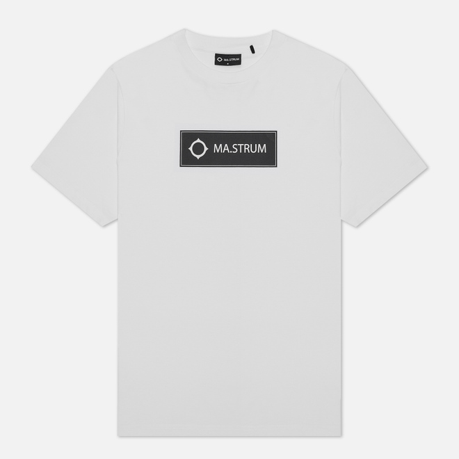 Мужская футболка MA.Strum Icon Box Logo Optic White