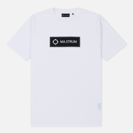 Мужская футболка MA.Strum Icon Box Logo Regular Optic White