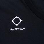 Мужская футболка MA.Strum Logo Embroidered Dark Navy фото- 2