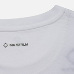 Мужская футболка MA.Strum Logo Embroidered Optic White фото- 3