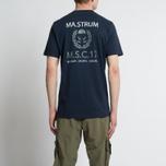 Мужская футболка MA.Strum Pion SS M.S.C. 17 Front & Back Logo Dark Navy фото- 5