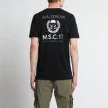 Мужская футболка MA.Strum Pion SS M.S.C. 17 Front & Back Logo Jet Black фото- 5