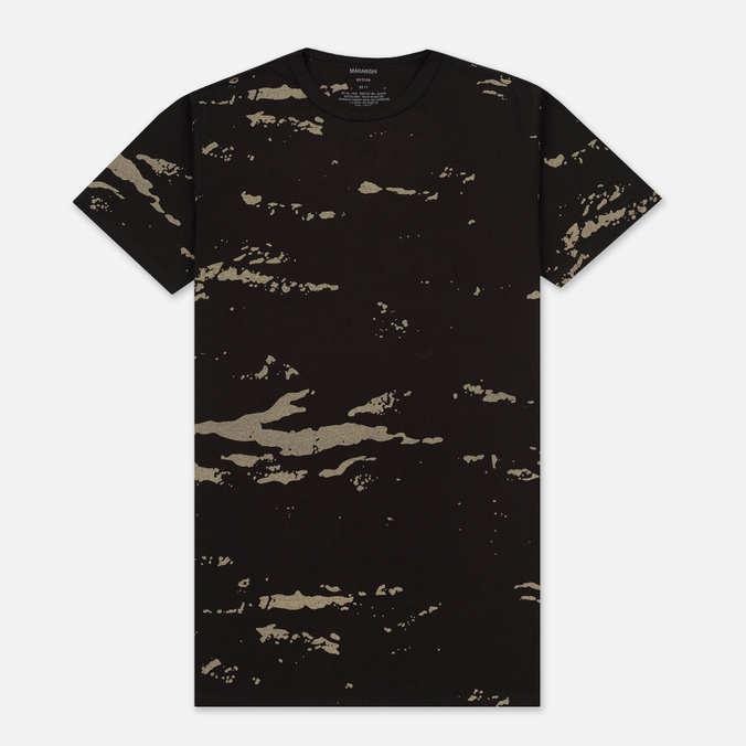 Мужская футболка maharishi Camo Mid Slouch Tigerstripe Murale Super Sparse Black Zebras