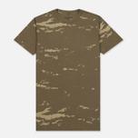 Мужская футболка maharishi Camo Mid Slouch Tigerstripe Murale Super Sparse Maha Olive Natural фото- 0