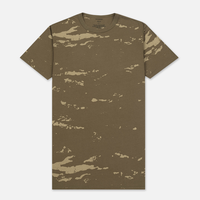 Мужская футболка maharishi Camo Mid Slouch Tigerstripe Murale Super Sparse Maha Olive Natural