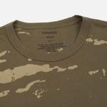 Мужская футболка maharishi Camo Mid Slouch Tigerstripe Murale Super Sparse Maha Olive Natural фото- 1
