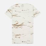 Мужская футболка maharishi Camo Mid Slouch Tigerstripe Murale Super Sparse Maha White Natural фото- 0