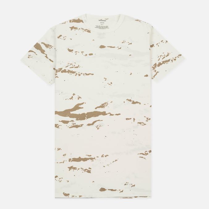 Мужская футболка maharishi Camo Mid Slouch Tigerstripe Murale Super Sparse Maha White Natural