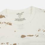 Мужская футболка maharishi Camo Mid Slouch Tigerstripe Murale Super Sparse Maha White Natural фото- 1
