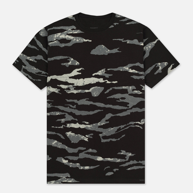 Мужская футболка maharishi Camo Slouch Tigerstripe Murale Sparse Black Zebras